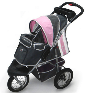 Pet Stroller Buggy Comfort AIR by Innopet, Dark Grey/Pink Pet Pushchairs and Strollers Maximum Loading Weight (kg)_>25kg, Terrain_Off Road/All Terrain, Type_Pet Stroller, Tyres_AIR, Wheels_3 Wheel System Innopet