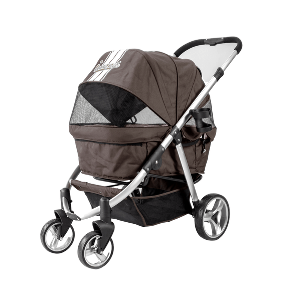 Innopet Pet Pushchairs and Strollers Retro Buggy Pet Stroller by Innopet - Brown Pink PetsOwnUs - Pets Own Us
