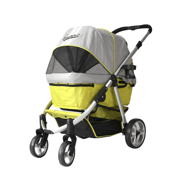 Innopet Pet Pushchairs and Strollers Retro Buggy Pet Stroller by Innopet - Grey Lime PetsOwnUs - Pets Own Us