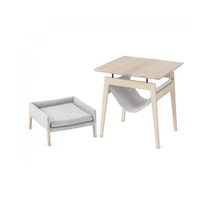 Labbvenn KIKKO Table & LULU Bed By Labbvenn - Light Grey PetsOwnUs - Pets Own Us