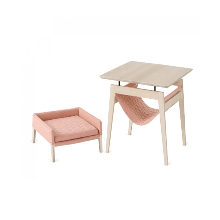 KIKKO Table & LULU Bed By Labbvenn - Raspberry