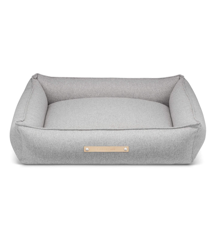 MØVIK Luxury High Side Dog Bed by Labbvenn in Grey