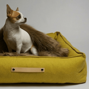 Labbvenn Luxury Dog Bed Small MØVIK Luxury High Side Dog Bed by Labbvenn in Honey PetsOwnUs - Pets Own Us