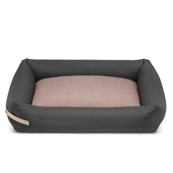 Labbvenn Luxury Dog Bed STOKKE Luxury High Side Dog Bed by Labbvenn in Grey/Pink PetsOwnUs - Pets Own Us