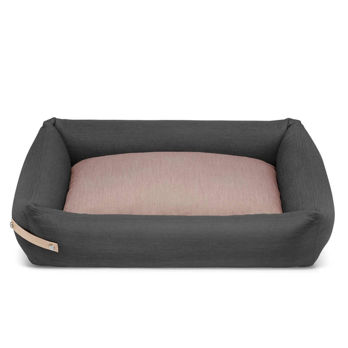 STOKKE Luxury High Side Dog Bed by Labbvenn in Grey/Pink