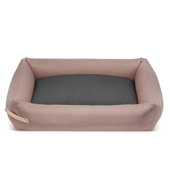 Labbvenn Luxury Dog Bed STOKKE Luxury High Side Dog Bed by Labbvenn in Pink/Grey PetsOwnUs - Pets Own Us