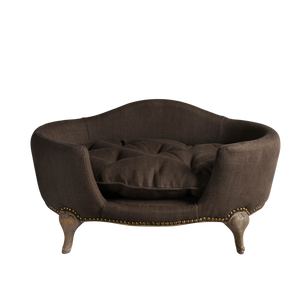 Lord Lou Dog Beds Antionette Luxury Dog Bed by Lord Lou | Upholstered | Belgian Charcoal PetsOwnUs - Pets Own Us