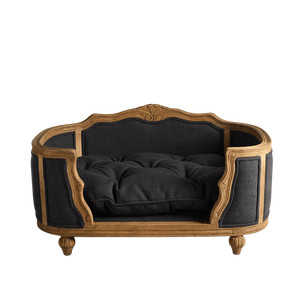 Lord Lou Dog Beds Arthur Luxury Dog Bed by Lord Lou | Oak | Rattan | Anthracite PetsOwnUs - Pets Own Us