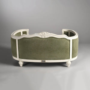 Arthur Luxury Pet Bed by Lord Lou | White Oak | Upholstered | Stonewash Army Green Dog Beds Bed Type_Luxury Dog Beds, Brand_Lord Lou, Collection_Arthur, Lord Lou Luxury Collection, Material_Oak, Size_Large, Size_Medium, Size_Small Lord Lou