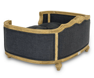 Lord Lou Dog Beds Small Arthur Luxury Upholstered Dog Bed by Lord Lou - Natural/Anthracite Grey PetsOwnUs - Pets Own Us