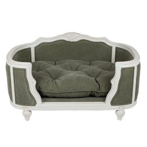 Lord Lou Dog Beds Medium Arthur Luxury Upholstered Dog Bed by Lord Lou - White/ Stonewashed Grey PetsOwnUs - Pets Own Us