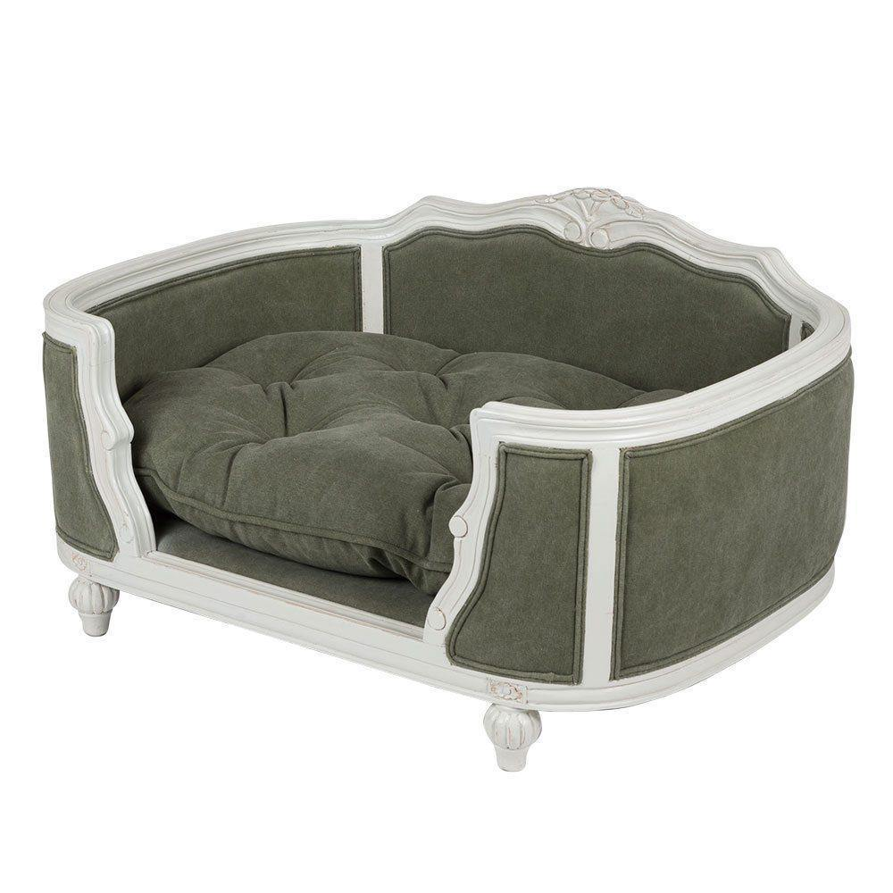 Lord Lou Dog Beds Small Arthur Luxury Upholstered Dog Bed by Lord Lou - White/ Stonewashed Grey PetsOwnUs - Pets Own Us