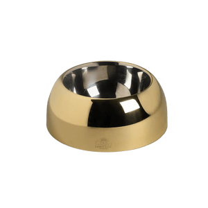 Lord Lou Pet bowls, feeders & waterers Capri Luxury Dog Bowl by Lord Lou | Gold PetsOwnUs - Pets Own Us