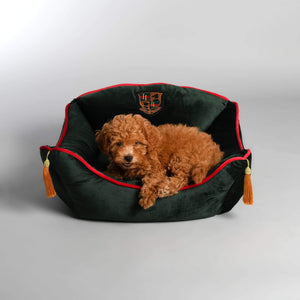 Lord Lou Dog Beds Diana Velvet Cushion By Lord Lou - Green ----- PetsOwnUs - Pets Own Us