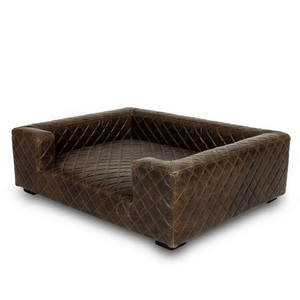 Lord Lou Dog Beds Large Edoardo Luxury Dog Sofa By Lord Lou | Havana Leather 882 PetsOwnUs - Pets Own Us