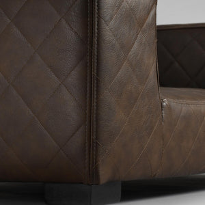 Lord Lou Dog Beds Edoardo Luxury Pet Bed by Lord Lou | Faux Leather | Brown PetsOwnUs - Pets Own Us