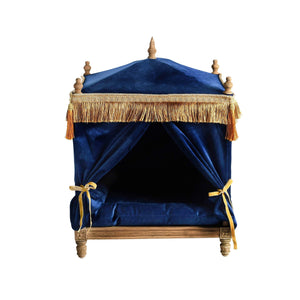 Lord Lou Dog Beds Edward Velvet Pet Palace By Lord Lou - Blue PetsOwnUs - Pets Own Us