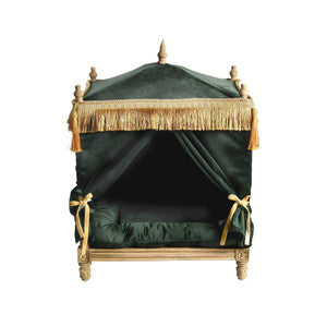 Lord Lou Dog Beds Edward Velvet Pet Palace By Lord Lou - Green PetsOwnUs - Pets Own Us