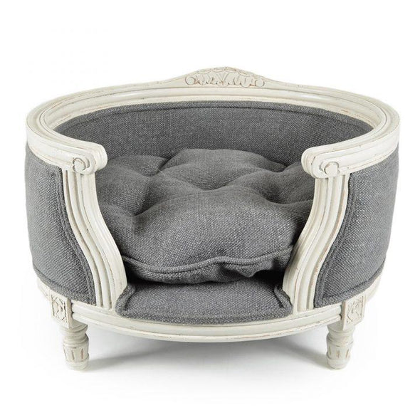 Lord Lou Dog Beds Small George Luxury Dog & Cat Bed by Lord Lou - Burlap Grey PetsOwnUs - Pets Own Us