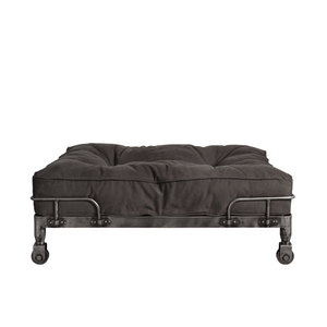 Lord Lou Dog Beds London Wheely Luxury Dog Bed By Lord Lou | Stonewashed Canvas Black PetsOwnUs - Pets Own Us