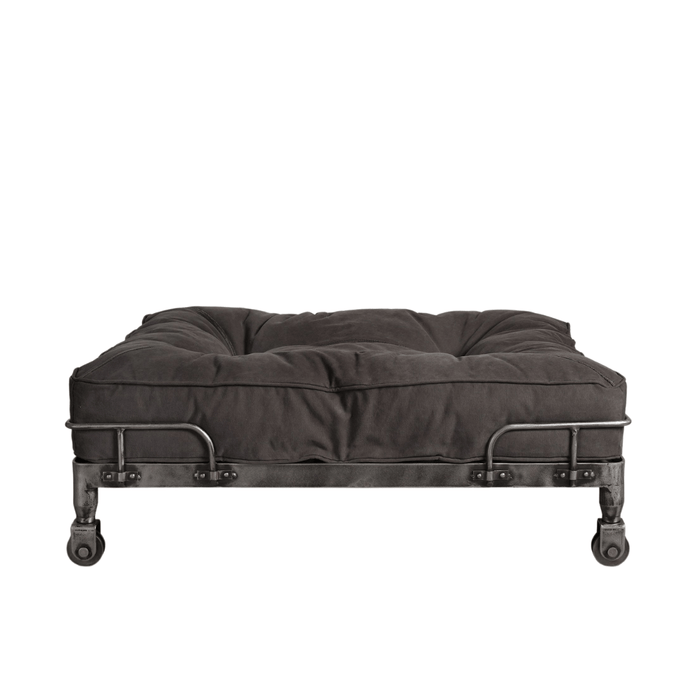 London Wheely Luxury Dog Bed By Lord Lou | Stonewashed Canvas Black