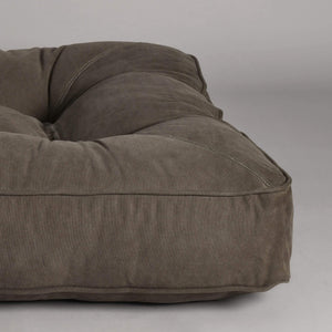 Lord Lou Dog Beds London Wheely Luxury Dog Bed By Lord Lou | Stonewashed Canvas Green PetsOwnUs - Pets Own Us