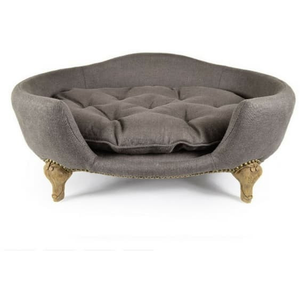 Lord Lou Dog Beds Small Lord Lou Antoinette Designer Dog Sofa in Belgian Charcoal 065 PetsOwnUs - Pets Own Us