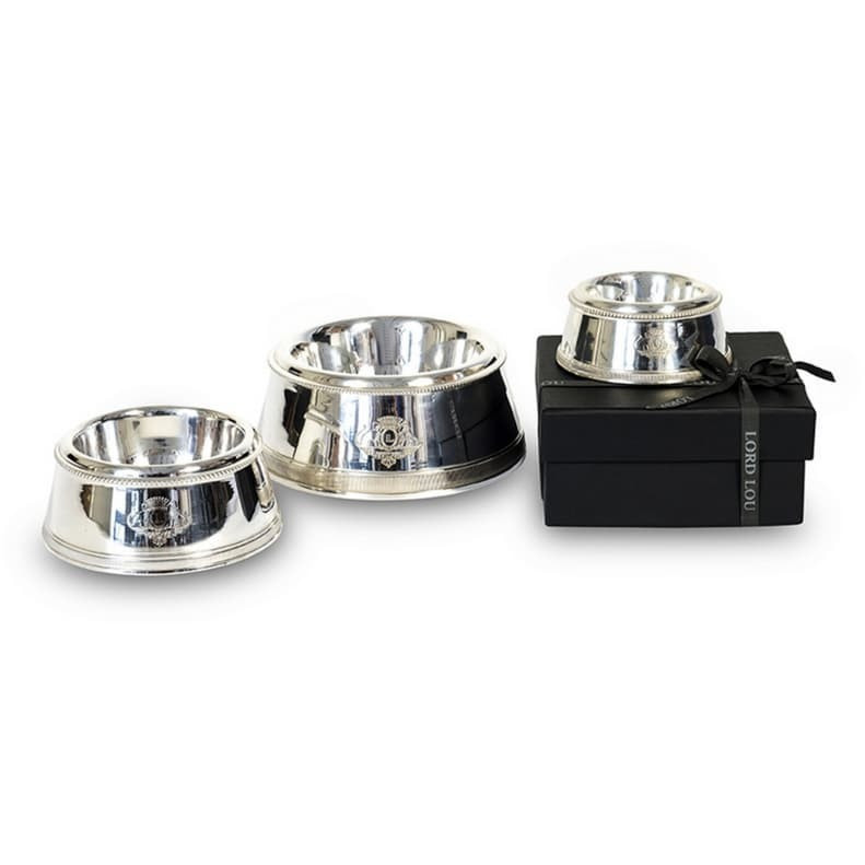 Lord Lou Pet bowls, feeders & waterers Small Lord Lou Riva Silver Plated Pet Feeder 404 PetsOwnUs - Pets Own Us