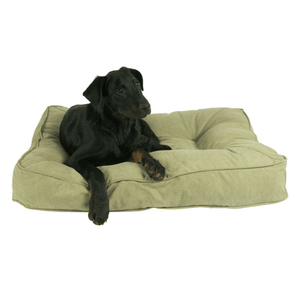 Lord Lou Dog Beds Medium / Mocha Lord Lou The London Dog Cushion in Cotton Canvas PetsOwnUs - Pets Own Us