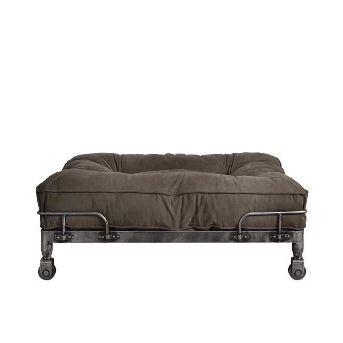 London Wheely Luxury Dog Bed By Lord Lou | Stonewashed Canvas Green