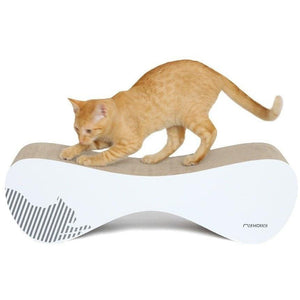 MyKotty Cat Furniture White Vigo Cat Scratcher and Lounger by myKotty PetsOwnUs - Pets Own Us