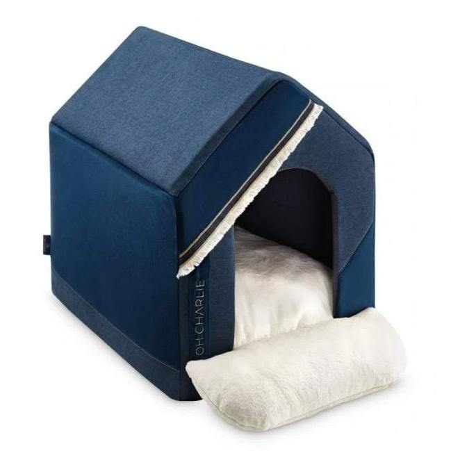 Allure Doghouse LUXURY by Oh Charlie - Navy Blue