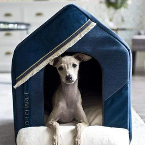 Oh Charlie One Size / Navy Blue Allure Doghouse LUXURY by Oh Charlie - Navy Blue PetsOwnUs - Pets Own Us