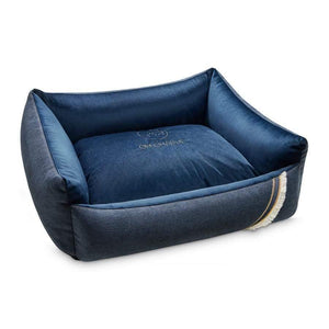 Oh Charlie Dog Beds Allure Luxury Dog Bed by Oh Charlie - Navy Blue PetsOwnUs - Pets Own Us