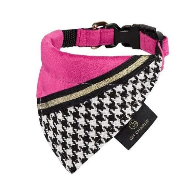 Oh Charlie Bandamas Fashion by Oh Charlie - Pink /Black PetsOwnUs - Pets Own Us