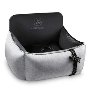 Oh Charlie O/S Elite Car Seat LUXURY by Oh Charlie - Cafe Au Lait & Back PetsOwnUs - Pets Own Us