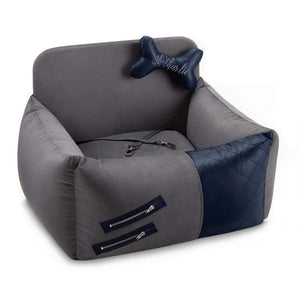 Oh Charlie O/S Festina Sport Car Seat by Oh Charlie - Grey/Navy Blue PetsOwnUs - Pets Own Us