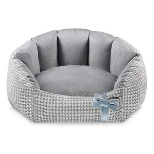 Finessa Pet Bed by Oh Charlie - Grey & Blue Dog Beds Bed Type_Soft Beds, Brand_Oh Charlie, Color_Blue, Color_Grey, Size_Large, Size_Medium, Size_Small Oh Charlie