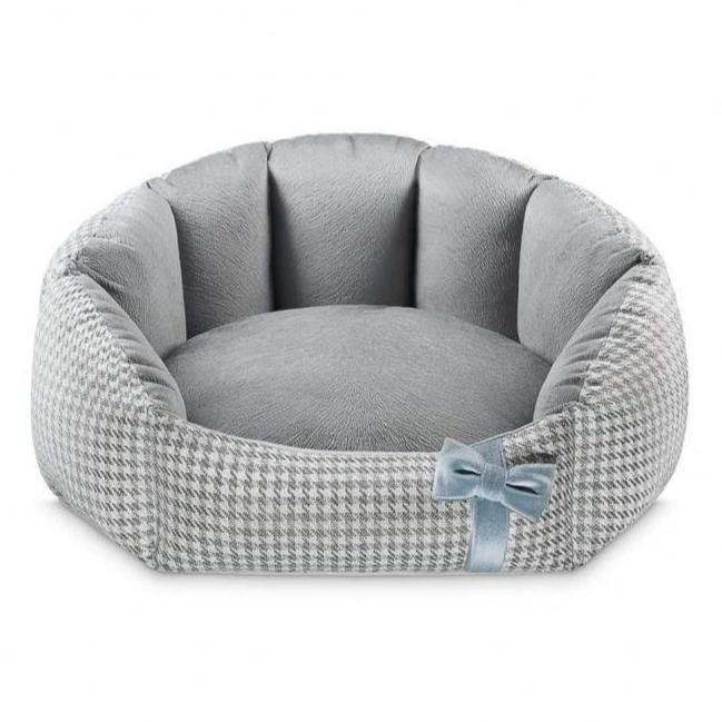 Finessa Pet Bed by Oh Charlie - Grey & Blue