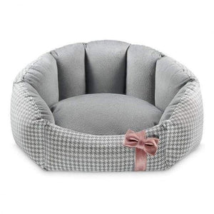 Finessa Pet Bed by Oh Charlie - Grey & Powder Pink Dog Beds Bed Type_Soft Beds, Brand_Oh Charlie, Color_Grey, Color_powder pink, Size_Large, Size_Medium, Size_Small Oh Charlie