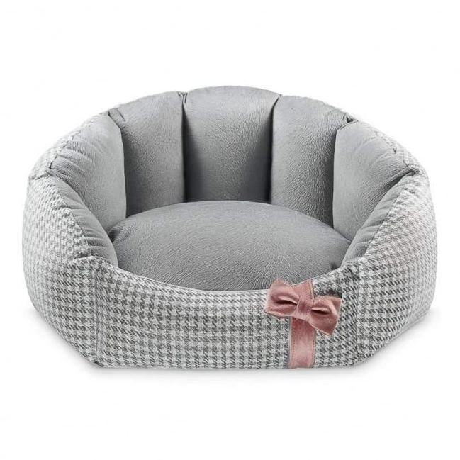 Finessa Pet Bed by Oh Charlie - Grey & Powder Pink