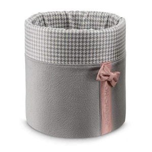 Oh Charlie Toy Box One Size / Grey & Powder Pink Finessa Toy Box by Oh Charlie - Grey & Powder Pink PetsOwnUs - Pets Own Us
