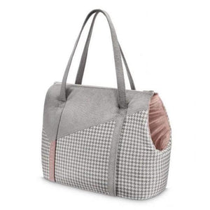 Oh Charlie O/S / Powder Pink & Grey Finessa Travel Bag by Oh Charlie - Powder Pink & Grey PetsOwnUs - Pets Own Us