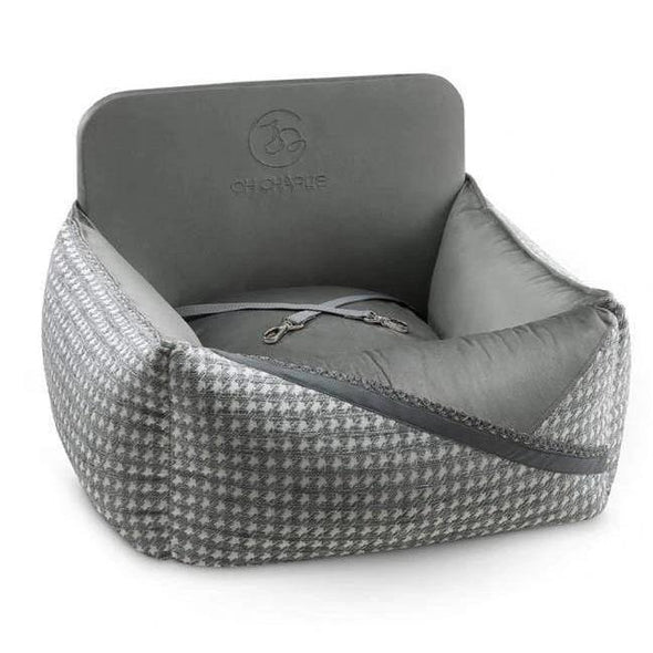 Oh Charlie O/S Glamour Car Seat LUXURY by Oh Charlie - Grey PetsOwnUs - Pets Own Us