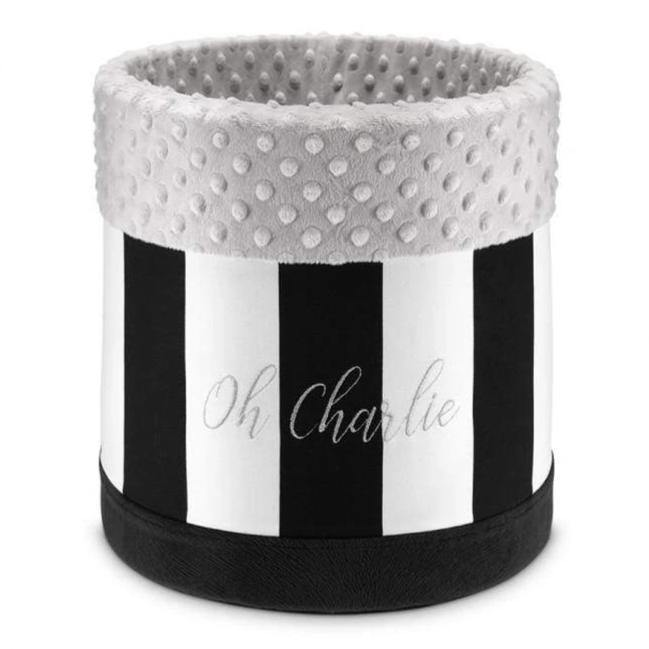 Lisbon Toy Box 30cm by Oh Charlie - Black