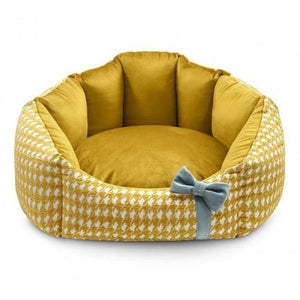 Luxury Glamour Pet Bed by Oh Charlie - Golden Dog Beds Bed Type_Luxury Dog Beds, Bed Type_Soft Beds, Brand_Oh Charlie, Color_Golden, Size_Medium, Size_Small Oh Charlie