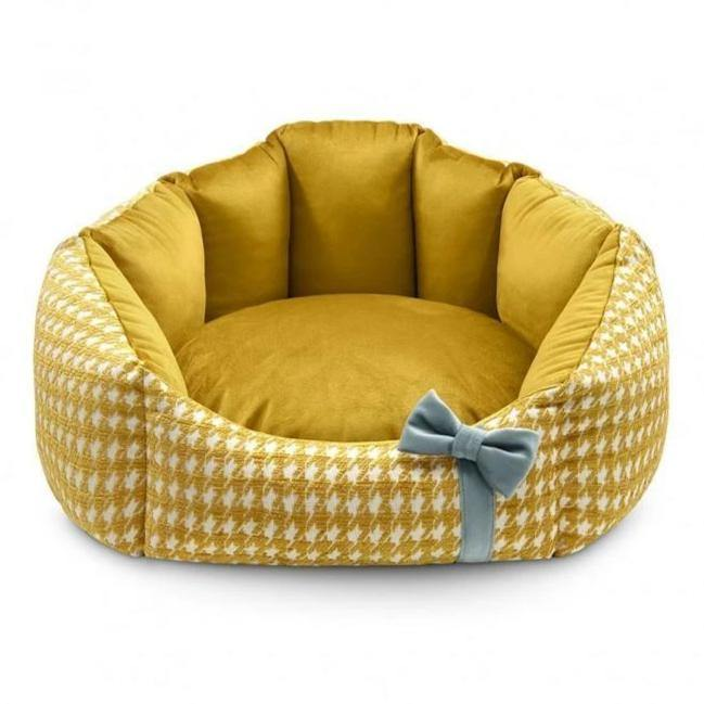 Luxury Glamour Pet Bed by Oh Charlie - Golden