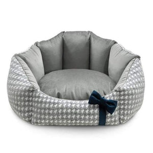 Luxury Glamour Pet Bed by Oh Charlie - Grey Dog Beds Bed Type_Soft Beds, Brand_Oh Charlie, Color_Grey, Size_Medium, Size_Small Oh Charlie