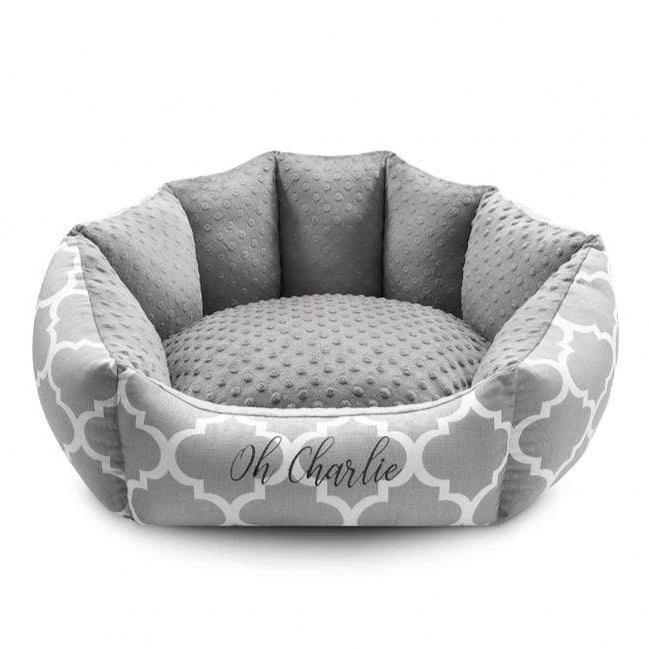 Marocco Pet Bed by Oh Charlie - Grey