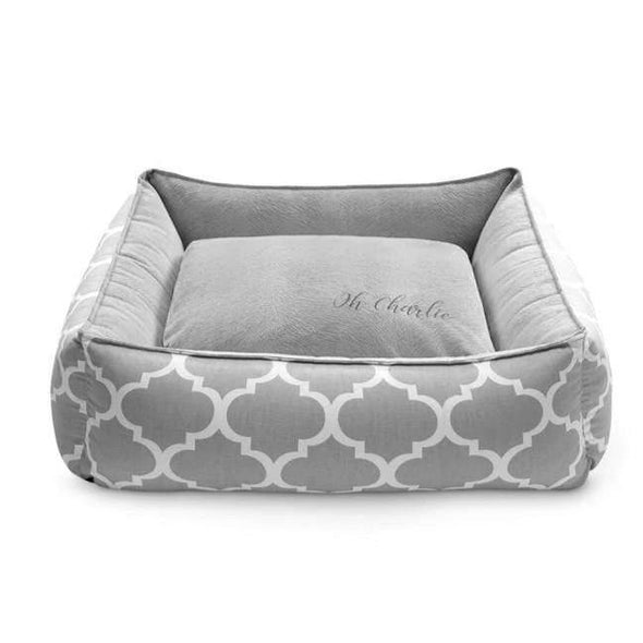 Oh Charlie Dog Beds Marocco  Pet Bed Plus by Oh Charlie - Grey PetsOwnUs - Pets Own Us